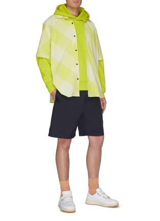模特儿示范图 - 点击放大 - ACNE STUDIOS - 品牌名称标签连帽混棉卫衣