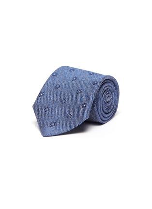 首图 - 点击放大 - STEFANOBIGI MILANO - 花卉提花丝混亚麻及棉领带
