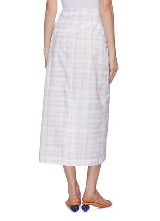 背面 - 点击放大 - JACQUEMUS - 拼贴口袋拼色格纹纯棉半裙