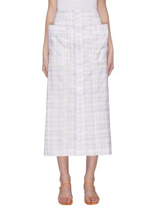 首图 - 点击放大 - JACQUEMUS - 拼贴口袋拼色格纹纯棉半裙