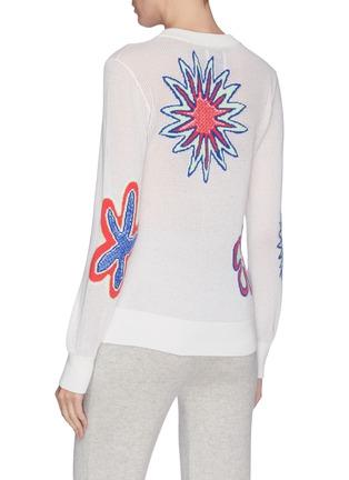 背面 - 点击放大 - Barrie - 花卉图案羊绒混棉针织衫