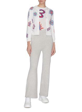 模特儿示范图 - 点击放大 - Barrie - 花卉图案羊绒混棉针织衫