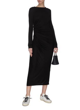 模特儿示范图 - 点击放大 - NINETY PERCENT - 褶裥连衣裙