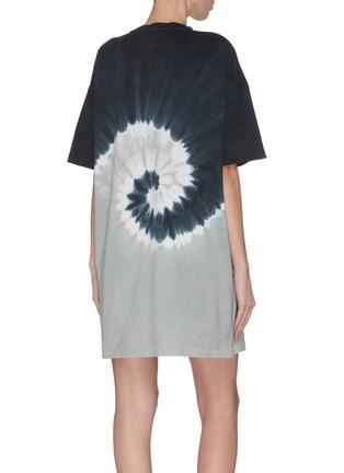 背面 - 点击放大 - NINETY PERCENT - 扎染抽象图案有机棉连衣裙