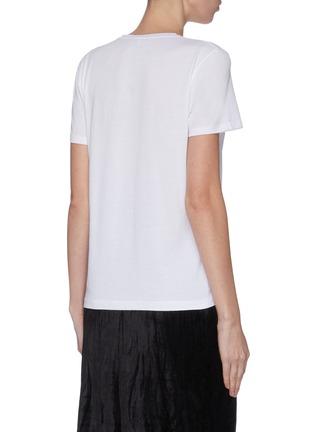 背面 - 点击放大 - NINETY PERCENT - Block 2B-24纯色有机棉T恤