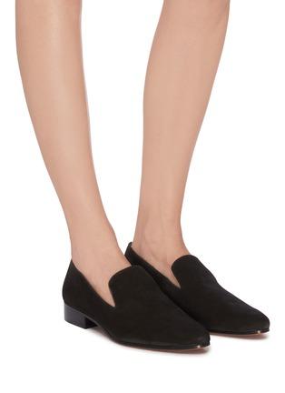 模特儿示范图 - 点击放大 - Vince - LELA绒面真皮乐福鞋