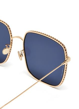 细节 - 点击放大 - Dior - DIOR BY DIOR 3金属方框OVERSIZE太阳眼镜