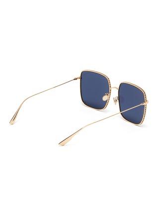 模特儿示范图 - 点击放大 - Dior - DIOR BY DIOR 3金属方框OVERSIZE太阳眼镜