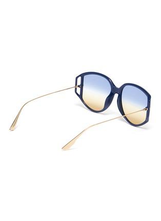 模特儿示范图 - 点击放大 - Dior - DIOR DIRECTION 3几何板材框金属镜腿太阳眼镜