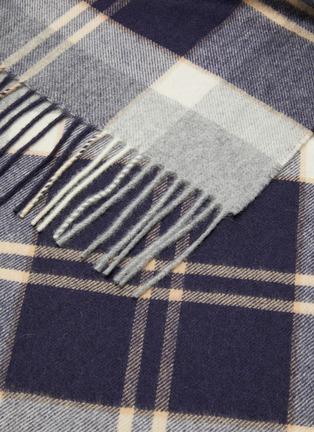 细节 - 点击放大 - Johnstons of Elgin - 苏格兰格纹流苏围巾