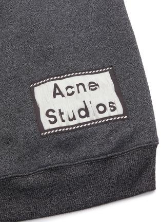 - ACNE STUDIOS - 品牌名称标签混色oversize抽绳混棉连帽卫衣