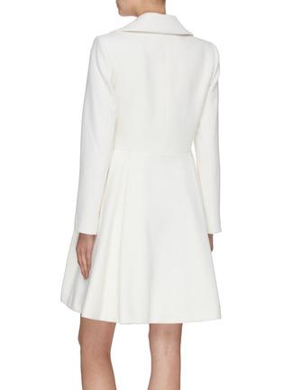 背面 - 点击放大 - ALICE + OLIVIA - LEILA双排扣褶裥混羊毛大衣