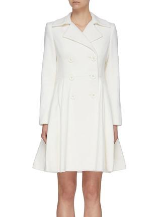 首图 - 点击放大 - ALICE + OLIVIA - LEILA双排扣褶裥混羊毛大衣