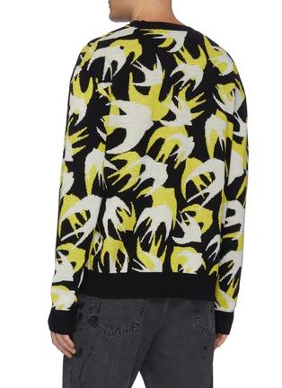 背面 - 点击放大 - MCQ ALEXANDER MCQUEEN - 拼色燕子图案棉质针织衫
