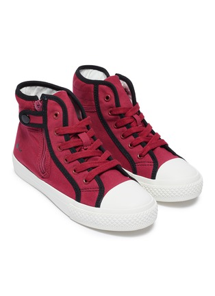 模特儿示范图 - 点击放大 - WiNK - GUMMY儿童款眨眼图案拉链运动鞋