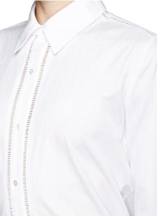 细节 - 点击放大 - VINCE - Ladder stitch trim poplin shirt