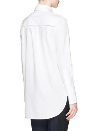 背面 - 点击放大 - VINCE - Ladder stitch trim poplin shirt