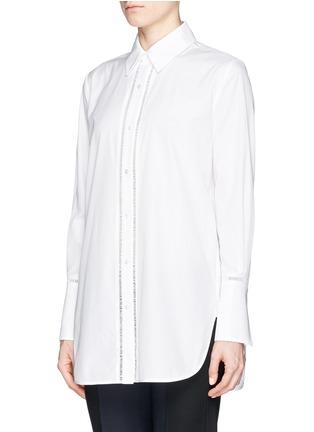 正面 -点击放大 - VINCE - Ladder stitch trim poplin shirt