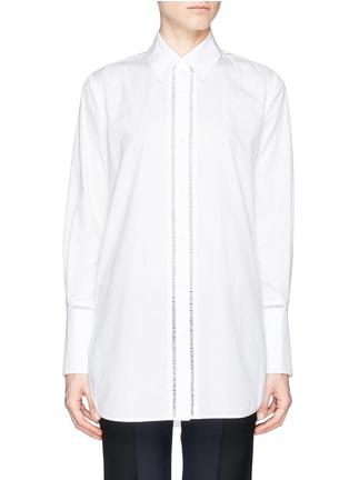 首图 - 点击放大 - VINCE - Ladder stitch trim poplin shirt