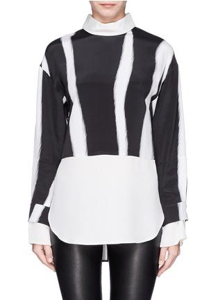 首图 - 点击放大 - 3.1 PHILLIP LIM - Layered sleeve stripe print shirt