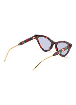 玳瑁纹拼色GG logo猫眼太阳眼镜展示图