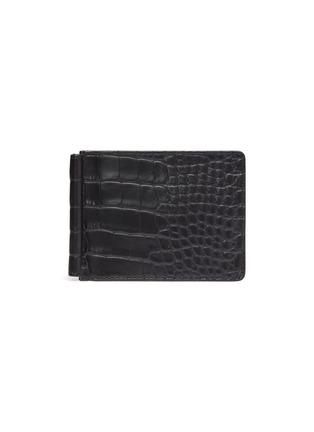 首图 - 点击放大 - JEAN ROUSSEAU - 连钞票夹鳄鱼纹真皮折叠钱包
