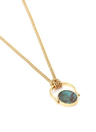 细节 - 点击放大 - Isabel Marant - SAUTOIR圆形纹理石头黄铜吊坠项链