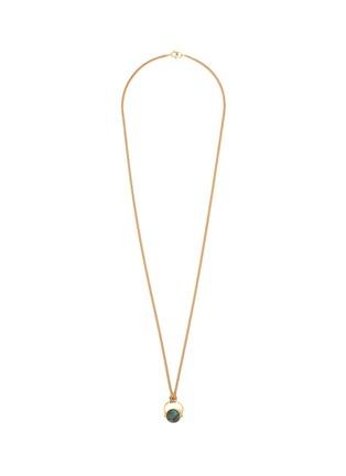 首图 - 点击放大 - ISABEL MARANT - SAUTOIR圆形纹理石头黄铜吊坠项链