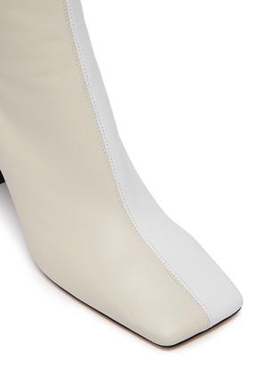 细节 - 点击放大 - WANDLER - ISA拼色方头真皮高跟短靴