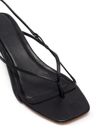 细节 - 点击放大 - STUDIO AMELIA - 方头真皮高跟凉鞋