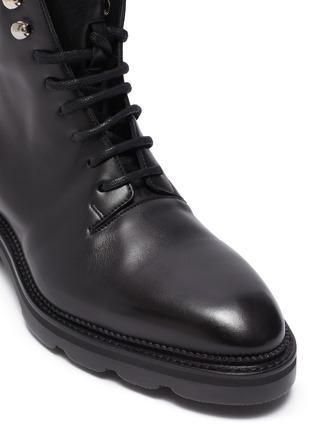 细节 - 点击放大 - ALEXANDER WANG - Andy切割鞋跟真皮战斗靴