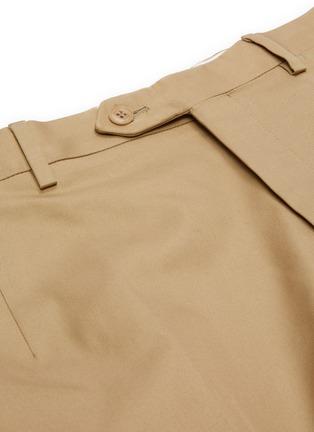 - BRIONI - 钮扣纯棉斜纹布休闲裤