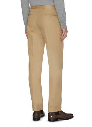 背面 - 点击放大 - BRIONI - 钮扣纯棉斜纹布休闲裤