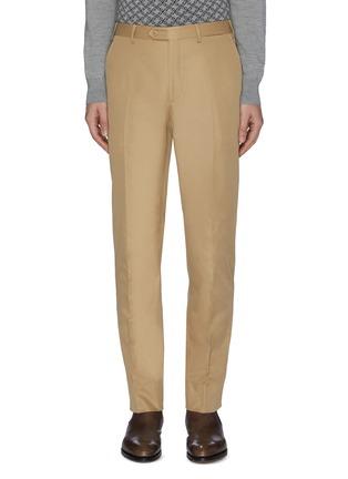 首图 - 点击放大 - BRIONI - 钮扣纯棉斜纹布休闲裤