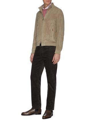 模特儿示范图 - 点击放大 - BRIONI - MICRO纯棉牛津布衬衫