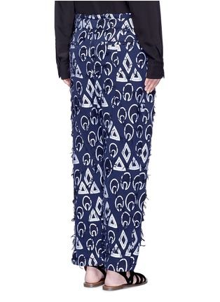 背面 - 点击放大 - CHLOÉ - 几何提花流须装饰长裤