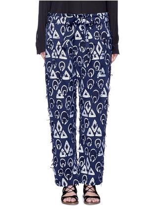 首图 - 点击放大 - CHLOÉ - 几何提花流须装饰长裤
