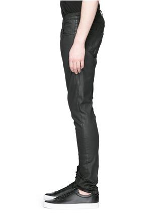 细节 - 点击放大 - Rick Owens DRKSHDW - 涂层弹性棉料牛仔裤