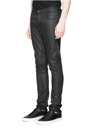 正面 -点击放大 - Rick Owens DRKSHDW - 涂层弹性棉料牛仔裤