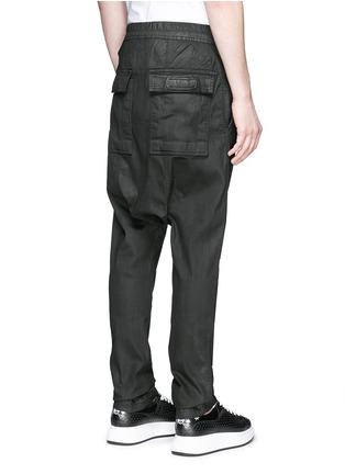背面 - 点击放大 - RICK OWENS DRKSHDW - 涂层弹性棉料低裆牛仔裤