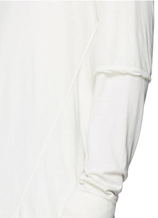 细节 - 点击放大 - RICK OWENS DRKSHDW - 双层纯棉上衣