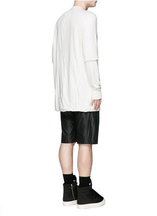 背面 - 点击放大 - RICK OWENS DRKSHDW - 双层纯棉上衣