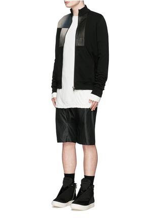模特儿示范图 - 点击放大 - RICK OWENS DRKSHDW - 双层纯棉上衣