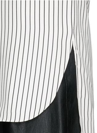 细节 - 点击放大 - RAG & BONE - VIRGINIA细竖纹真丝衬衫