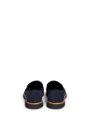 背面 - 点击放大 - 73426 - 金属片装饰麂皮乐福鞋