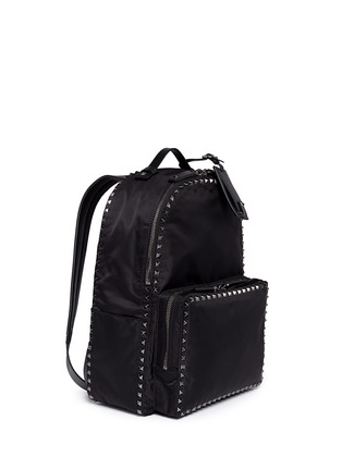 模特儿示范图 - 点击放大 - VALENTINO - 'Rockstud' nylon backpack