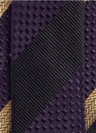 细节 - 点击放大 - DRIES VAN NOTEN - 斜纹提花真丝领带
