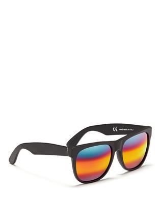 模特儿示范图 - 点击放大 - SUPER - CLASSIC中性款哑光板材方框太阳眼镜