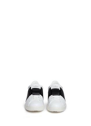 正面 -点击放大 - VALENTINO - 铆钉拼色真皮球鞋