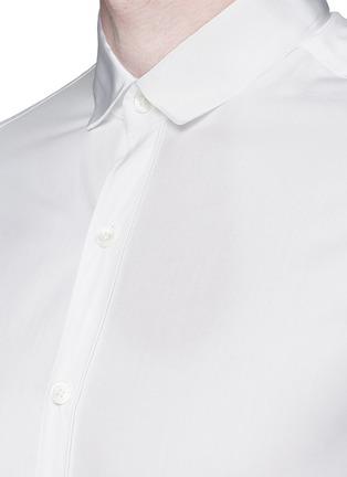 细节 - 点击放大 - LANVIN - 罗缎衣领纯棉衬衫